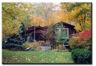 Lake House on Lake George in the fall. - Nice, big, friendly house on Lake George. - Diamond Point - rentals