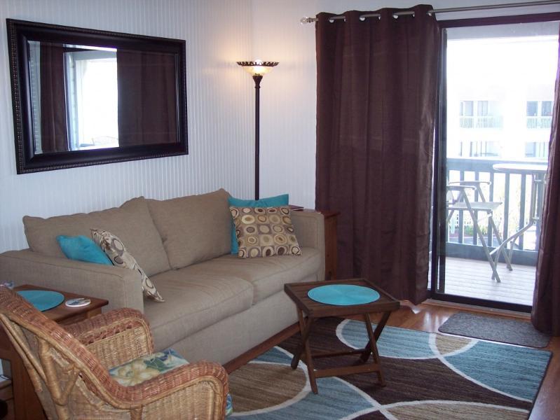 46-INCH TV w/DVD player in LR; queen sofa sleeper - It's Delightful!  3RD-FLOOR VIEW; WIFI - Tybee Island - rentals