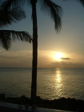 sunset from patio - Beautiful Oceanfront Townhouse - Nassau - rentals