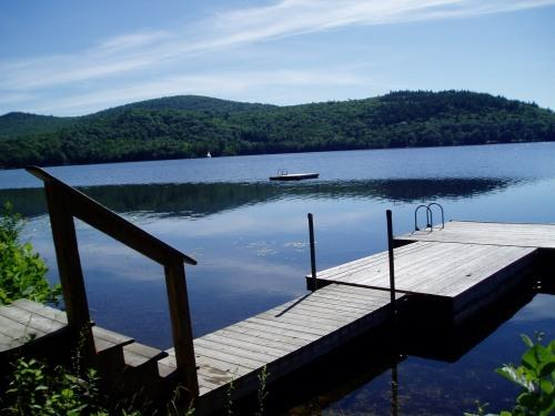 Lake as seen from dock area - Cry of the Loon Cottage on Quiet, Clean Maine lake - East Stoneham - rentals