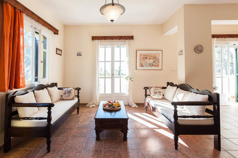 Living Room - Bioporos rural tourism/Traditional house #1 - Corfu - rentals