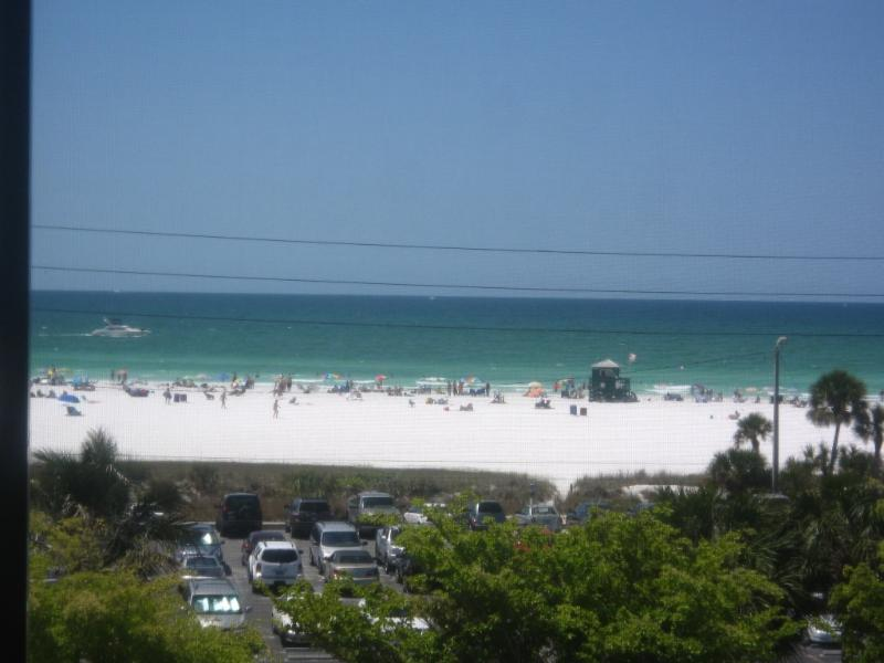 View of the Beach from balcony - Siesta Key Beachfront Condo with Gulf View! - Sarasota - rentals