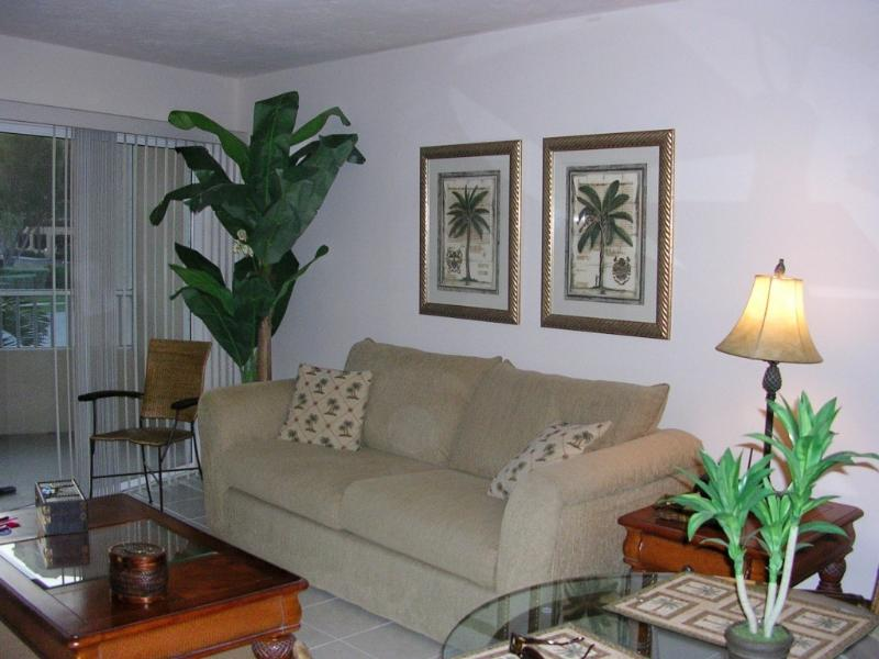 Living area/sleeper sofa - Paradise across the street from the beach - Marco Island - rentals