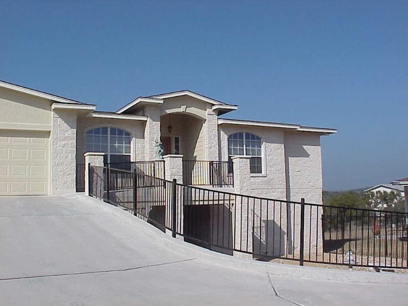 Front View of House - 4500 Sq Waterfront, Deep water, Heated pool, Boat - Lake Travis - rentals
