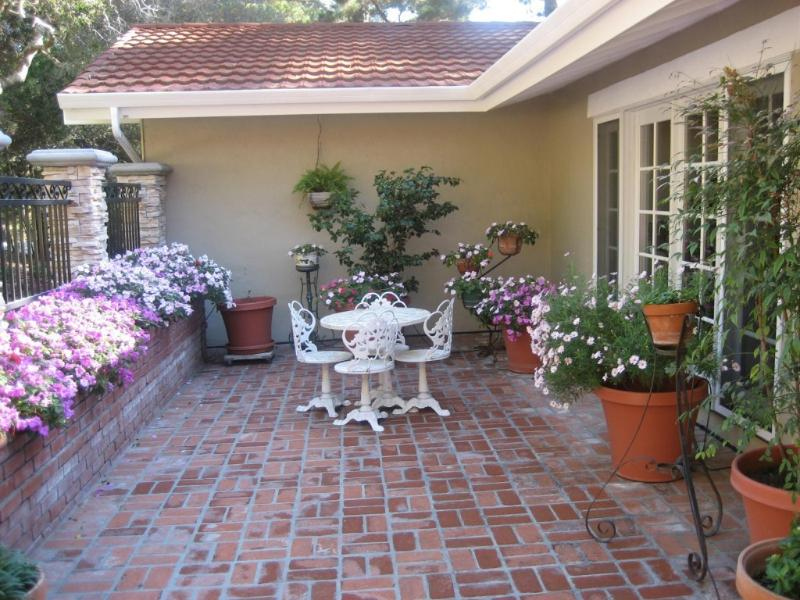 Entry Patio of our Carmel Home - Carmel Home Nestled in the Woods - 3+BR/2.5 BA - Carmel-by-the-Sea - rentals