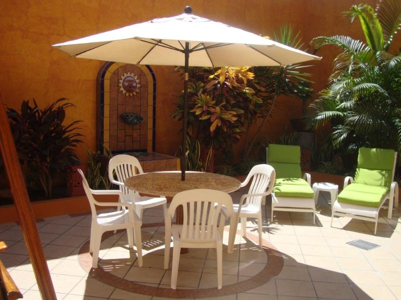 Patio Area Behind Home - FAMILY ACCOMMODATION - Near the Beach ! - Mazatlan - rentals