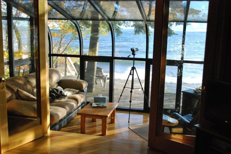 Glass Sunroom - Lake Superior Beachfront Cottage-Seacoast Cottage - Au Train - rentals