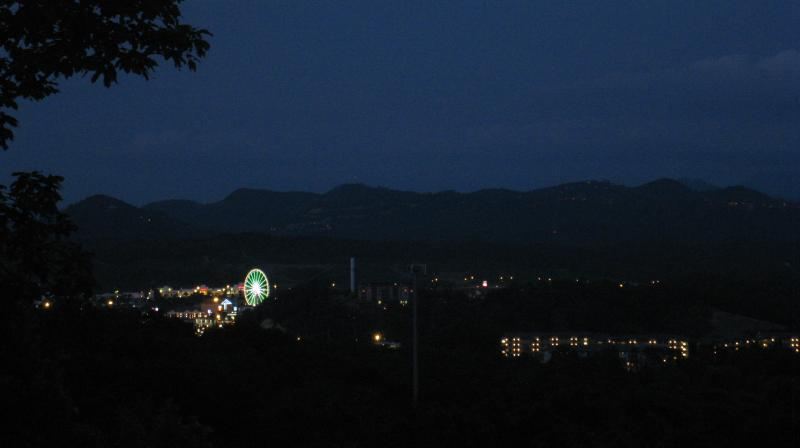 Awesome View of the Big Wheel at the Island in Pigeon Forge - AFFORDABLE yet, AWESOME VIEW of Pigeon Forge - Pigeon Forge - rentals