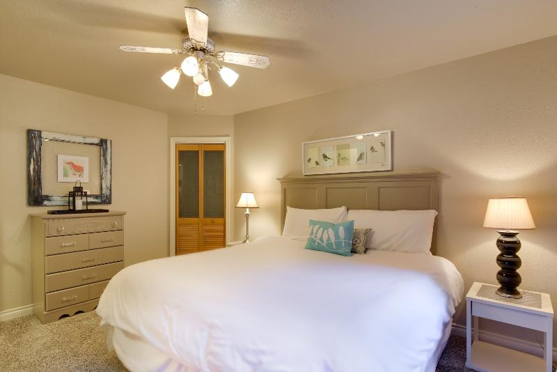 Another view of the upper level bedroom with king bed, TV, and walk in closet. - Grab the Only Week Open in June! Canoe, Paddle Boat, Row Boat Free to Guests - Rathdrum - rentals