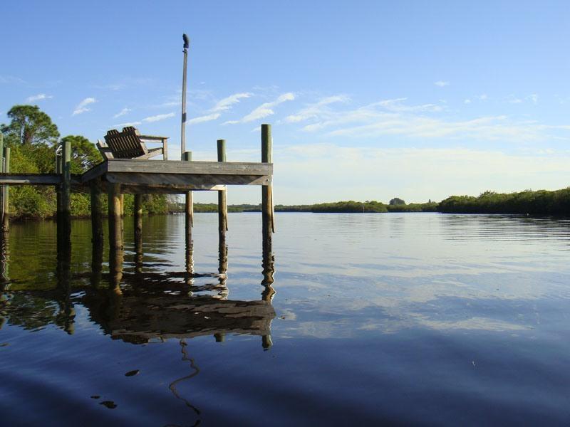 Dock view from the kayak - Beautiful Braden River Waterfront Retreat! - Bradenton - rentals