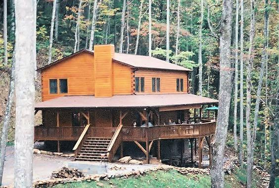 exterior - 6 bedroom upscale log home - Franklin - rentals