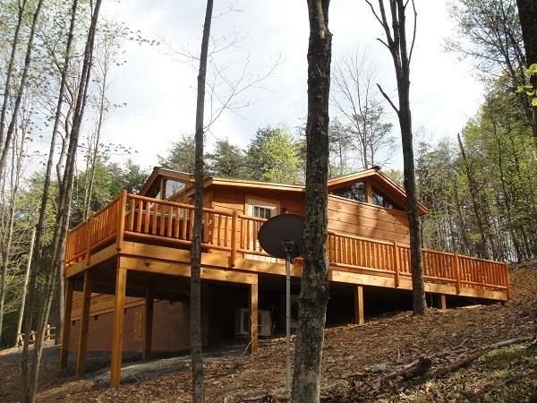 Private Wooded Setting - New modern Log Cabin. Private wooded surroundings. - Great Cacapon - rentals