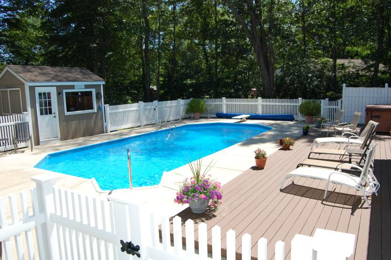 Your private backyard resort! - Best of both worlds, in ground pool and hot tub on site, beach nearby. - Kennebunk - rentals