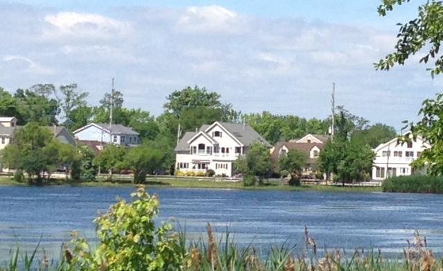 View of house from across the lake - Pet Friendly Lakefront approx 300 yards to Beach!! - Point Pleasant Beach - rentals