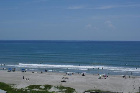 View from your PRIVATE Balcony.  Watch and HEAR The Waves rolling in! - COCOA BEACH OCEANFRONT CONDO  $399/wk! - Cocoa Beach - rentals