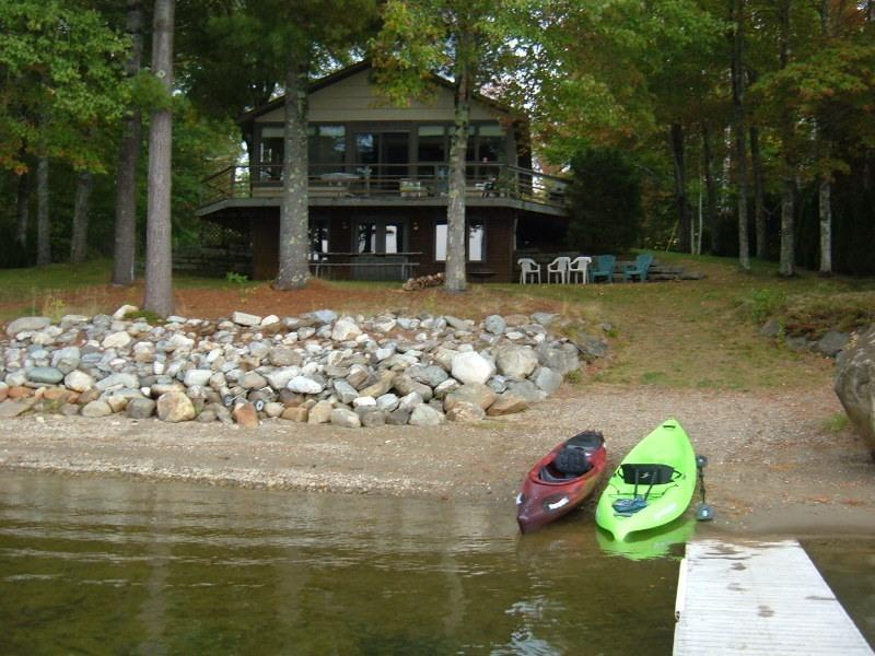 Cottage  & Kayaks View from dock - Lake House Private Beach(Swanlake) Swanville - Swanville - rentals