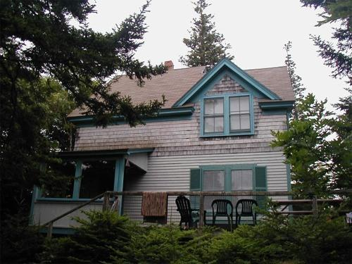 View of house from water. - The Lookout Lodge - 5-minute walk to beach! - DownEast and Acadia Maine - rentals