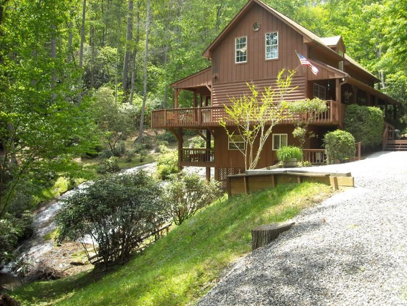 Waterfall Cabin - North Carolina Waterfall Vacation Home - Cullowhee - rentals