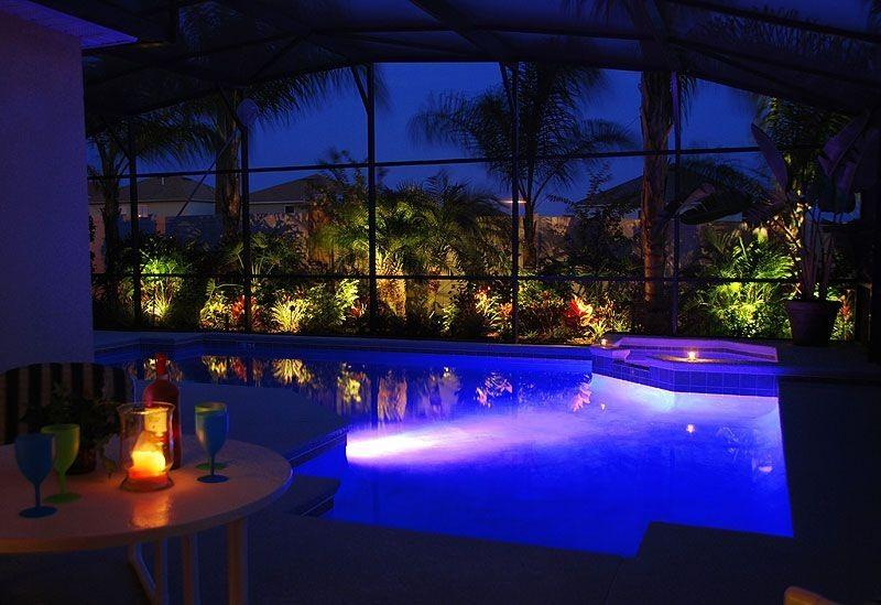 Large south facing swimming pool - Multi colour lights - Simply Stunning 5* Vacation rental home - Davenport - rentals