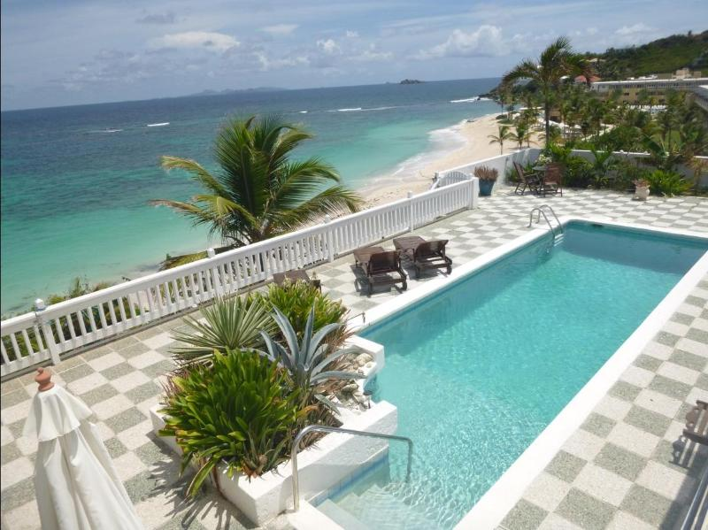 marvelous view from the pool deck to Dawn Beach - Amazing beachfront vacation Villa in best location - Dawn Beach - rentals