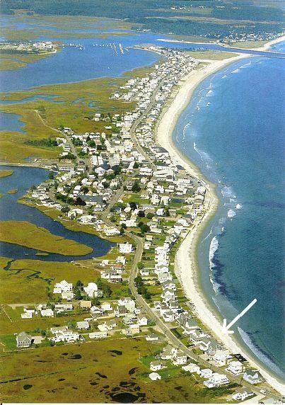 Sandy beachfront (location @ arrow) - Oceanfront Classic Maine Beach House - Wells - rentals