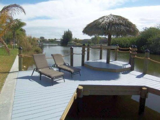 Boat Dock w/Tiki Hut Area - Villa Tropical Oasis - Cape Coral - rentals