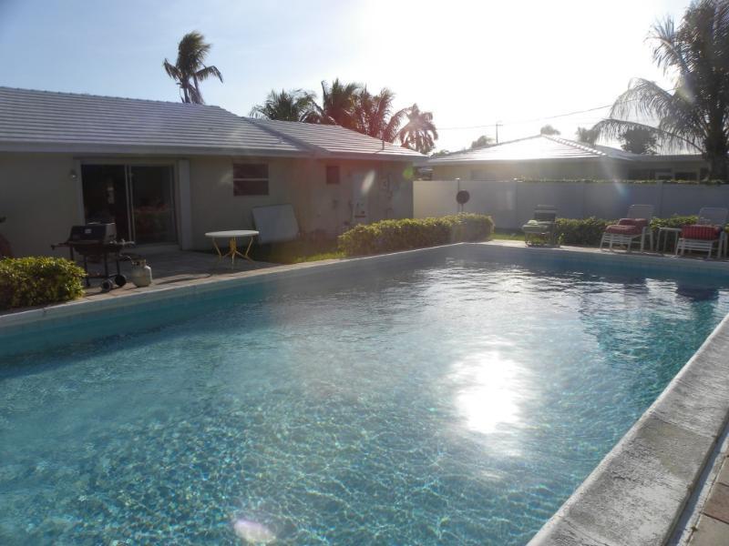 Pool Photo - Beautiful Beach Home Steps from Ocean w Pool - Palm Beach Shores - rentals