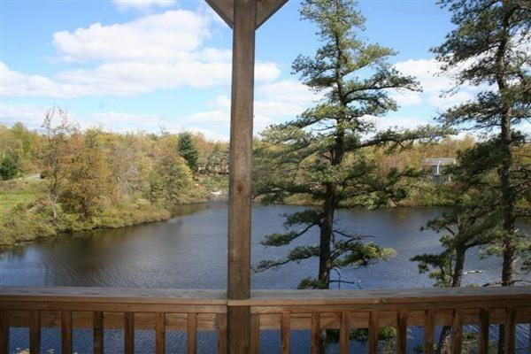 Beautiful View off of Deck - Lakefront Luxury - Long Pond - rentals