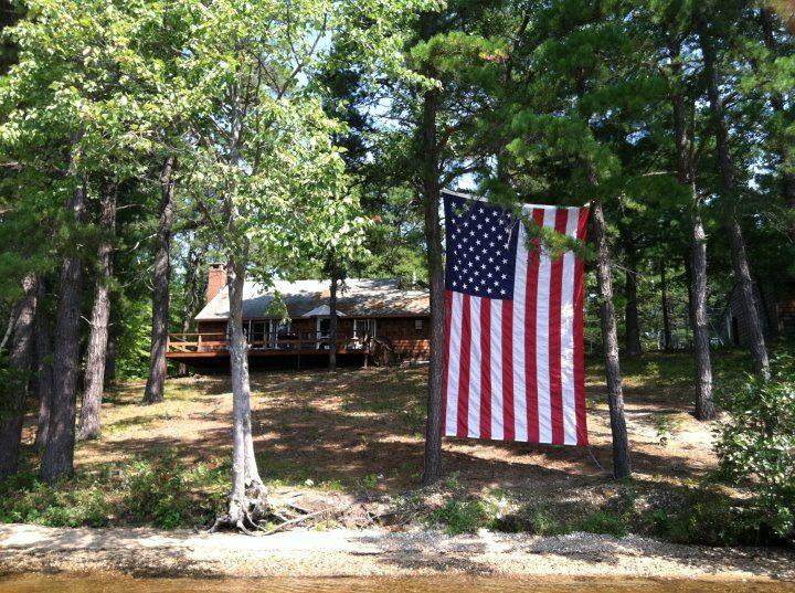 View of House from Water, Memorial Day - 2 Private Beaches, Dock, Dog Friendly,Lake Ossipee - Freedom - rentals