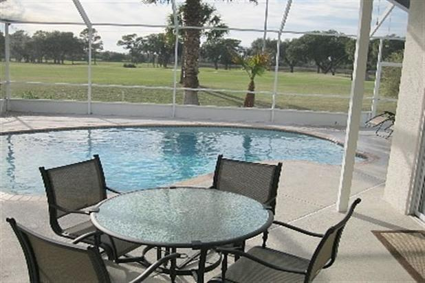 Patio looking towards the golf course - Zephyrhills Vacation Rental house - Zephyrhills - rentals