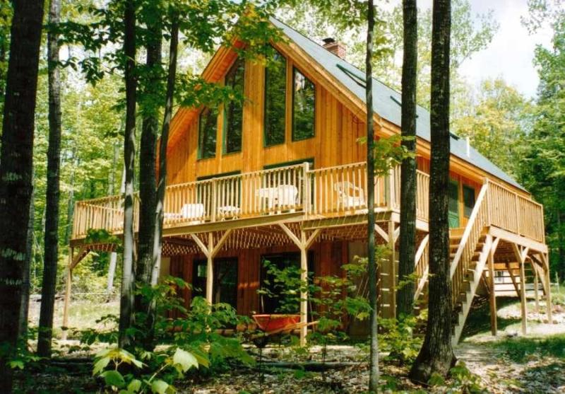 Lake side of house - Contemporary 4BR Vacation Home on Long Lake - Harrison - rentals