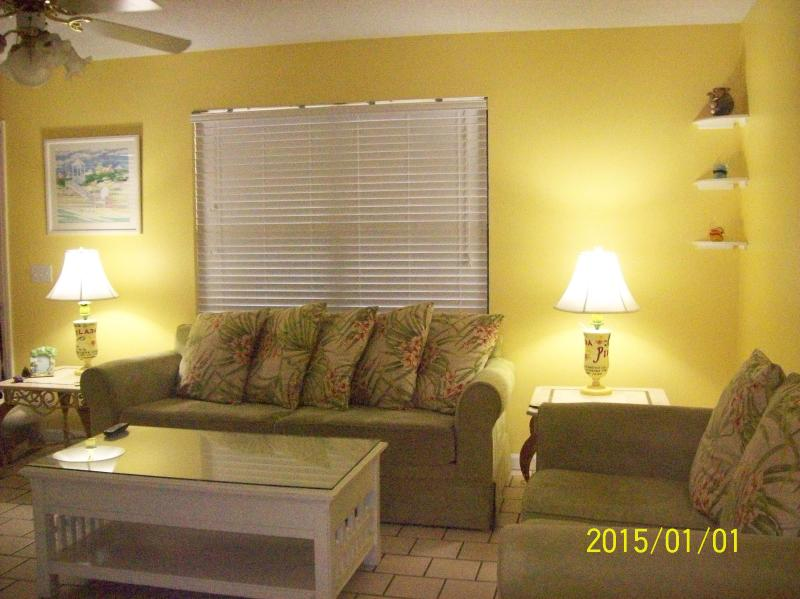 Living room with queen sofa sleeper an love seat - Available: Oct 8 to Oct 15: PETS WELCOME - Panama City Beach - rentals