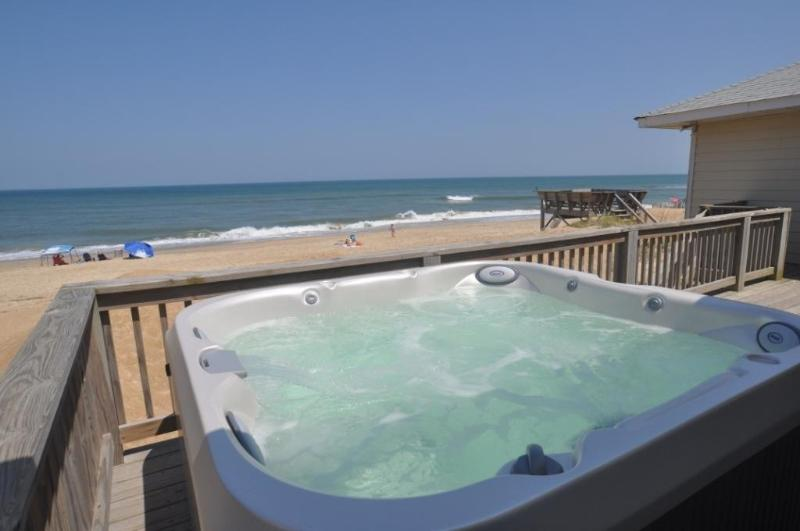 Hot Tub Ocean View - Gracie Bell's SeaShell Oceanfront Cottage - Kitty Hawk - rentals