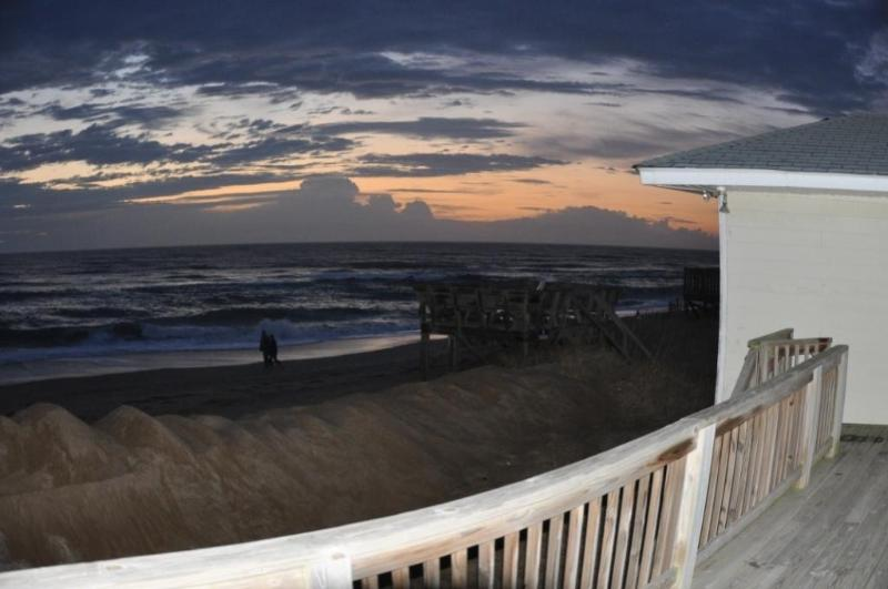 Gorgeous Sunrise Off Oceanfront Deck - Gracie Bell's SeaShell Oceanfront Cottage - Kitty Hawk - rentals