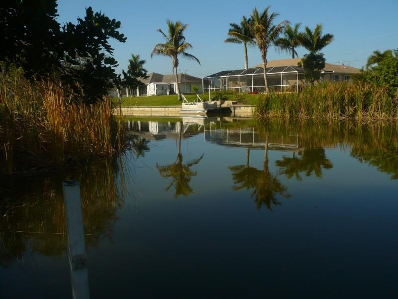 view of the canal - Villa on the canal  with heated pool - Cape Coral - rentals