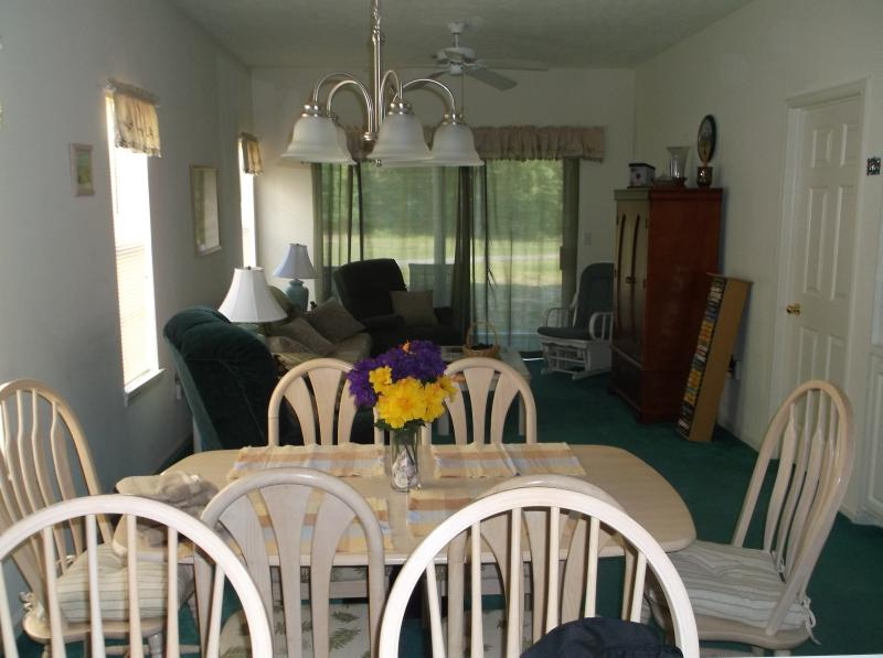 Looking from the kitchen to the Dining room and living room - Family Affordable Condo - Myrtle Beach - rentals