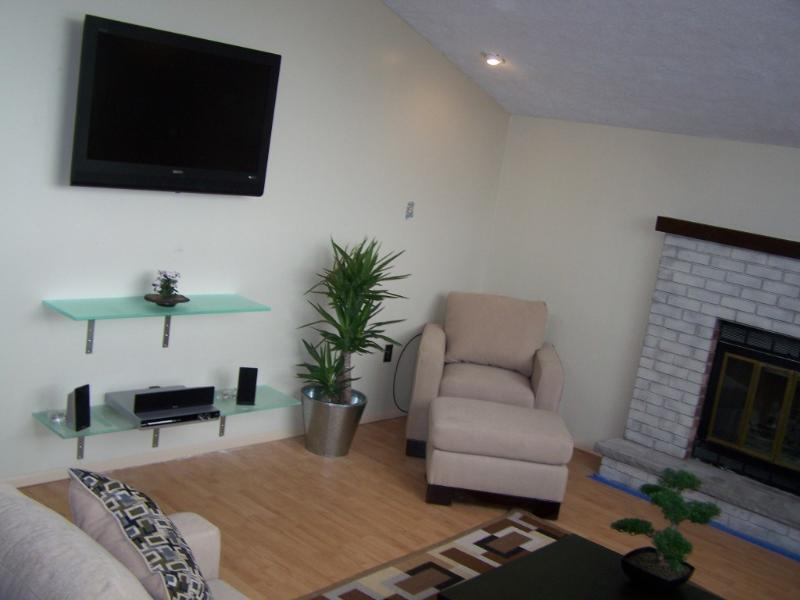 Home entertainment system and indoor fireplace - Modern Lakefront Living in a Quiet Rural Setting - Tobyhanna - rentals