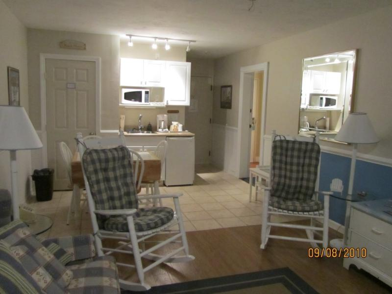 Living Room / Kitchenette - Unique Privately Owned Condo in Hotel~ Indoor Pool - Yarmouth - rentals