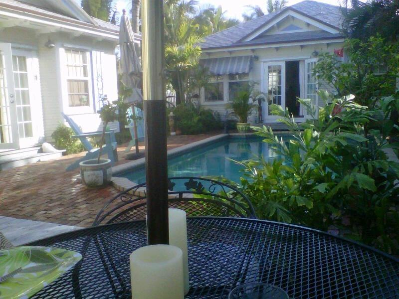 Pool view to the Cabanna - Charming Key West Villa Surrounding Heated Pool - Lake Worth - rentals
