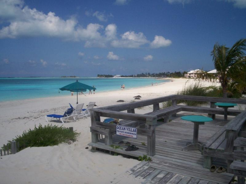 Beach Patio - Enjoy turquoise waters of Treasure Cay Beach - Turtle Rocks - rentals