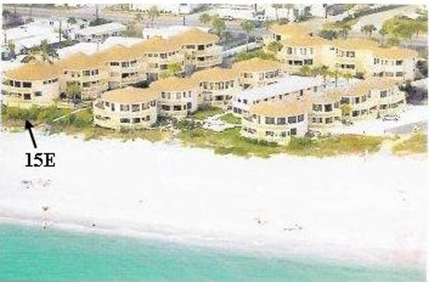 Arrow pointing to condo - Direct Beach Front Condo with Panoramic View - Englewood - rentals