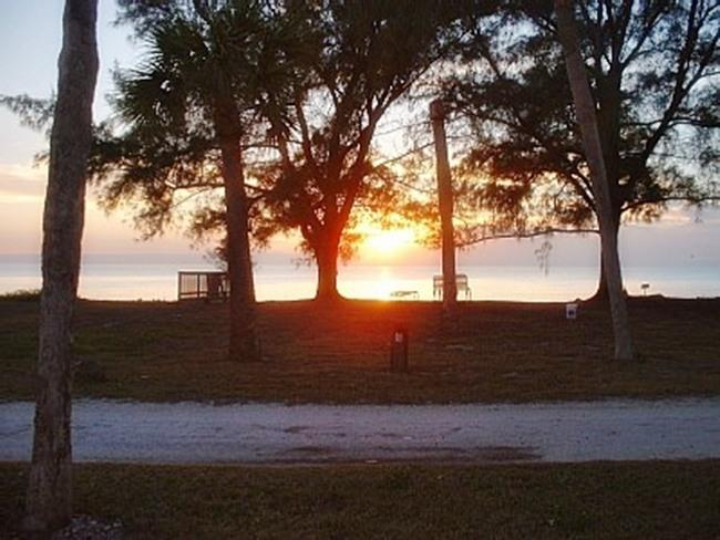 A beautiful sunset seen from the house! - Directly on the Beach and a Pool, too! - Englewood - rentals
