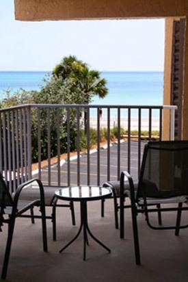 Private Patio overlooking the Gulf - Gulf View Condo for Rent in Redington Beach, FL - Redington Beach - rentals