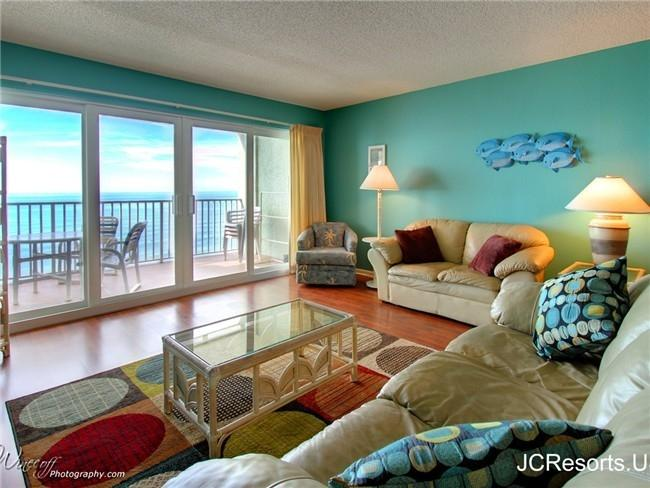 Living Room - OCEANFRONT at SAND DOLLAR RESORT- call us quick! - Madeira Beach - rentals