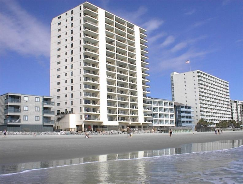 View of Condo from Beach - Spectacular Oceanfront Condo - Myrtle Beach! - Garden City - rentals