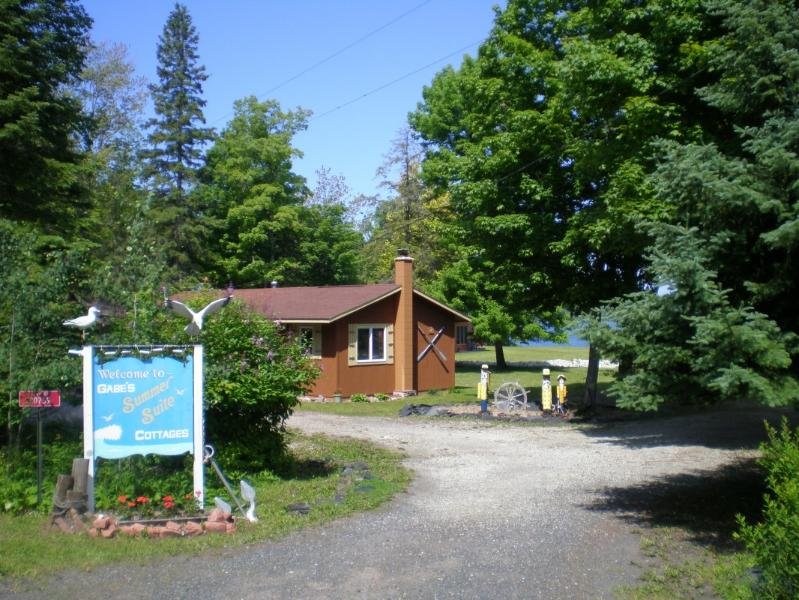 Cottages entrance - Cabin/cottages on Huron Bay, Upper Peninsula of MI - Skanee - rentals
