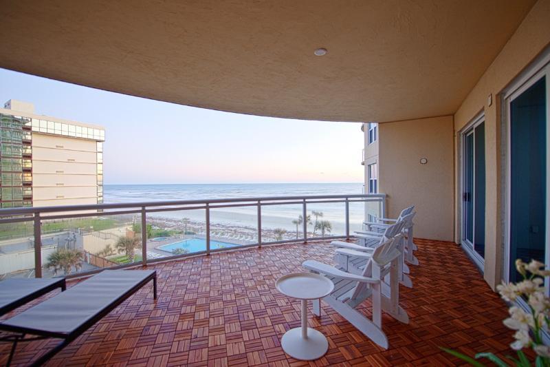 Terrace 500 sf, teak decking, overlooking beach - Awesome Views, 3500 Sf Beachfront Condo - Daytona Beach - rentals