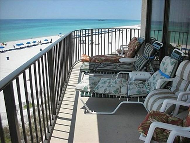 View From the Living Room Balcony - Edgewater 3 Bedroom Deluxe  OceanWrap-Around Condo - Panama City Beach - rentals