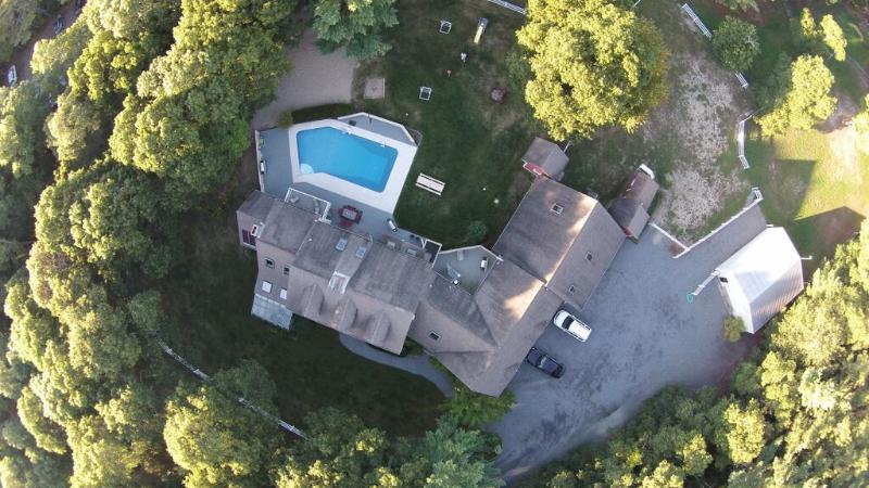 Aerial View of Property - In-Ground Pool, Large home, sleeps up to 22! - Sandwich - rentals