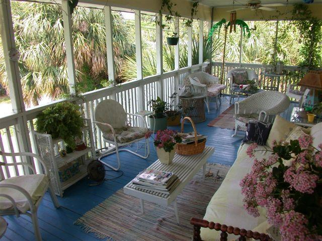 The Fish House Cottage porch - Classic Tybee Cottage CLOSE to both Beaches - Tybee Island - rentals
